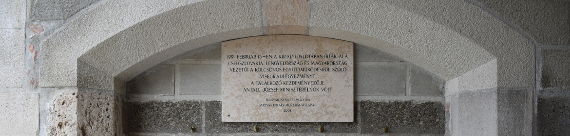 Memorial plaque in the Royal Palace of Visegrad